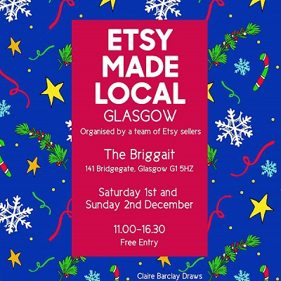 etsy made local glasgow small sqaure